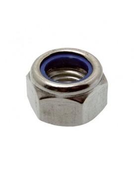 Ecrou frein Ø6 inox A4 (Les 10)