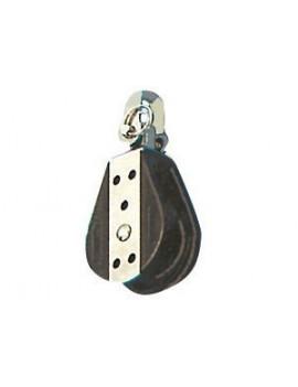 Poulie simple à billes Ø22mm + émerillon