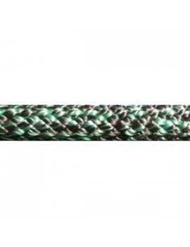 Drisse polyester préétirée Ø5mm chinée noir/vert