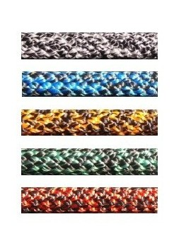 Drisse polyester pré-étirée Ø5mm - chinée