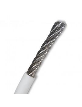 Câble inox souple 7x7 - gaine blanche