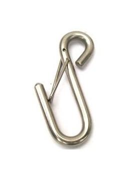 Crochet ouvert fil inox avec sécurité