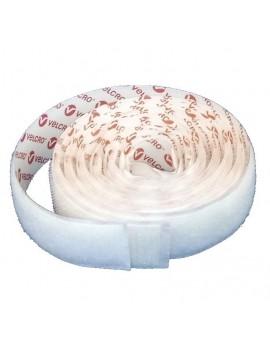 Velcro autocollant blanc 1m x 20mm