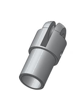 Embout de barre franche alu anodisé gris + réa - Nouveau modèle