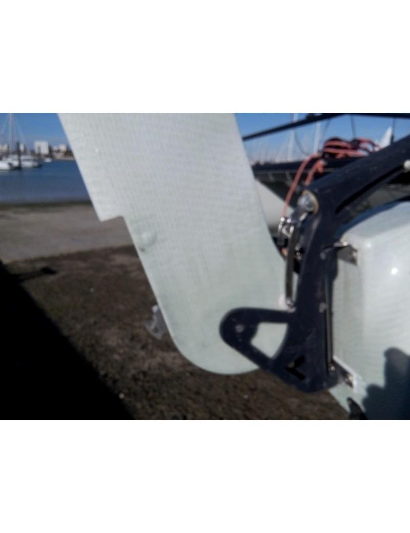 Casting catamaran 13-15, pieds anodisé avec bagues - Nouveau modèle