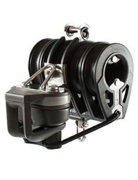 Poulie DYNAMIC winch quintuple Ø60mm avec taquet + manille et émérill