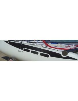 Kit pads pont Twiner/Twincat 15 - Noir