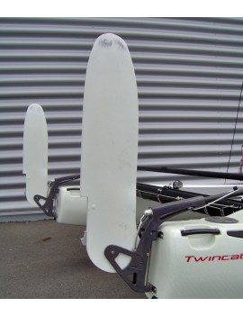 Lame de safran en Twintex catamaran 2WIN 13-15 pieds