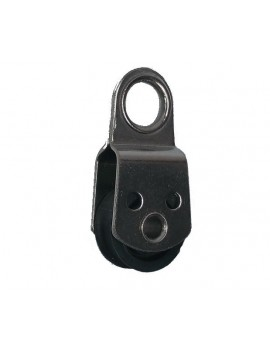 Poulie micro Ø18mm simple + oeil - Réa carbone