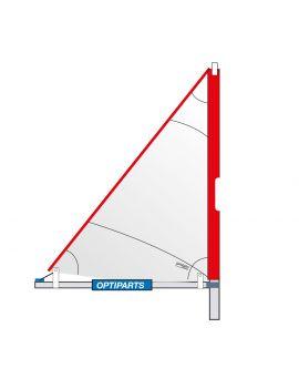 Gréement complet voile/mat/bôme optimist triangulaire à fourreau - OPTIPARTS
